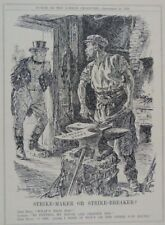 "7x10 ""PUNCH CARTOON 1924 sciopero MAKER o sciopero disgiuntore"