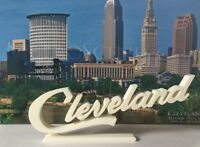 Cleveland Script Sign Office Desk Display in WHITE NEW