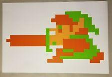 """Zelda Full Size 24"""" x 36"""" Legend of Zelda 8 bit Link Nintendo Video Game RPG NES"""