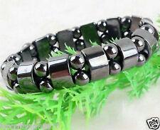 Beautiful! Black Magnetic Hematite Bracelet Therapy Healthy men's women's bangle