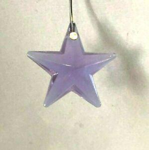 NEW: 28mm Lilac Alexandrite Glass STAR PRISM ORNAMENT SUNCATCHER