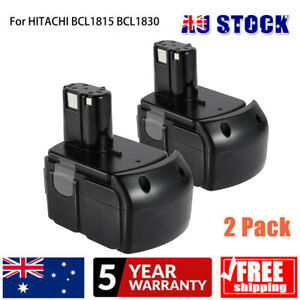 18V 5.0Ah 2Pack  EBM1830 Li-ion Battery For HITACHI BCL1815 BCL1830 BCL1840 AU