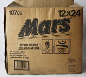 ULTRA RARE VINTAGE 1992 MARS CHOCOLATE OLYMPIC GAMES BARCELONA 92 CARTON BOX !