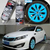 6 x Sky Blue PREMIUM Wheel Rim Rubber Spray Color Paint Coat Car Plasti Dip