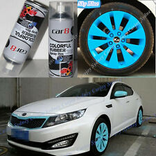 6 x Sky Blue PREMIUM Wheel Rim Rubber Spray Color Paint Coat Car Plasti Dip