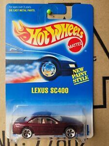 Hot Wheeels 1995 - LEXUS SC400 [DARK RED] 5 SPOKE DOT WHEEL VARIATION VHTF NM