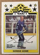 GORDIE HOWE 1977-78 O-Pee-Chee OPC #1 WHA NEW ENGLAND WHALERS NM Condition