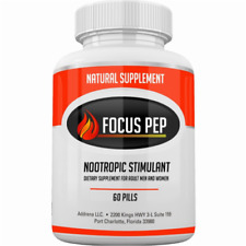 Focus Pep OTC Stimulants Brain Boosting Dietary Supplement, 1207 mg, 60 Tablets