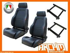 AUTOTECNICA ADVENTURER 4WD SEAT PU LEATHER BLACK JEEP JK WRANGLER ADAPTOR PAIR