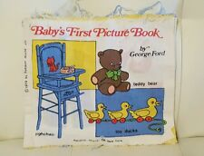 Vintage 00004000  1979 Random House Baby's First Picture Book Cloth Fabric quiet book