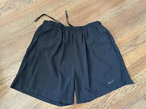"""nike dri fit running shorts black medium 5"""""""