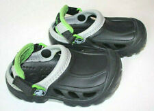Crocs Black Green Clog Shoes Toddler Boys Size 8 9 EUC 3T 4T