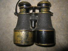 Vtg Marine Nautical Supplies black & gold binoculars field glasses London E.C.3