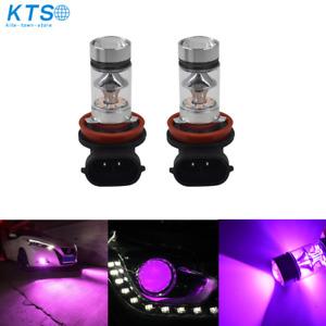 NEW 2x H8 H9 H11 H16 14000K Purple 100W  LED Headlight Bulbs Kit Fog Light