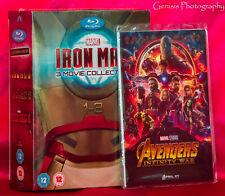IRON MAN Trilogy 3 Movie Collection Blu-Ray Box Set + Marvel Art Cards NEW