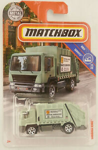"""Matchbox Garbage Truck (Modern Style) Green National Parks Waste Service 3"""" Long"""