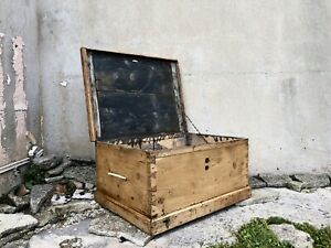 Vintage Pine Rustic Wooden Box