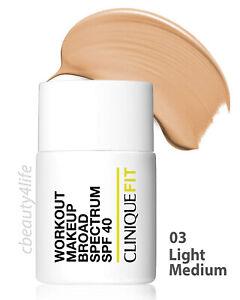 Clinique Fit 03 LIGHT MEDIUM Workout Makeup Broad Spectrum SPF 40 - NEW SEALED!