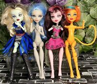 Monster High Doll Lot 4 Draculaura Ghoulia Yelps Toralei Frankie Stein OOAK