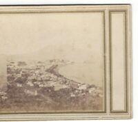 Bay of Naples, Italy, Circa 1880's Stereoview, Mount Vesuvius in Background