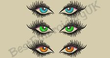 37 MACHINE EMBROIDERY DESIGNS - DOLL FACE - REALISTIC WOMAN'S EYES - EYELASHES