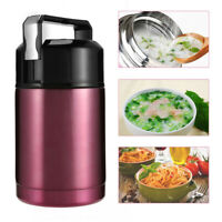 Hot Food Jar Soup Container Thermal Stainless Steel Vacuum Lunch Box 800/1000ML