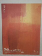Fluid Cold Press Finish Water Color Paper 12x16 140lb 15 Sheets