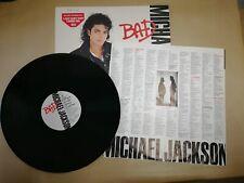 "Michael Jackson - Bad - 12"" LP Album on Vinyl - EPC 450290 - 1987 Printed Inner"