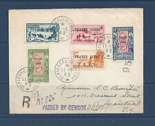 ST PIERRE & MIQUELON  217-218, 229, 240, 246 - USED ON COVER TO CANADA - 3-11-42