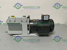 Leybold Trivac D 16 B Dual Stage Rotary Vane Vacuum Pump With 1 Hp Motor 115v