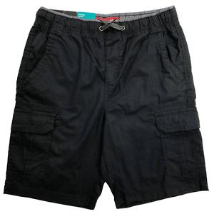 NWT Iron Co. Black Stretch Cargo Pull-on Shorts Boys Size 10/12