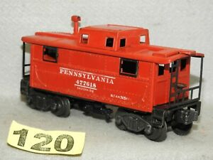 LIONEL POST WAR TINPLATE #2457 PENNSYLVANIA N5 LIGHTED CABOOSE READY TO RUN VG
