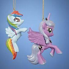 Set of 2 My Little Pony Christmas Tree Ornaments 1 Luna  1 Dash Friendship Magic