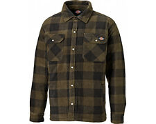 Dickies Portland Shirt Mens Fleece Padded Lumberjack Stud Work Jacket Sh5000 M Khaki