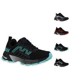 Damen Plateau Sneaker Blockabsatz Schnürer Profil-Sohle Schuhe 901217 New Look