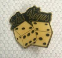 Las Vegas Nevada Pin Dice Casino Gambling Tourist Souvenir Travel Vintage
