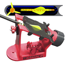 """BOHNING BLAZER ARROW FLETCHING JIG W/ HELIX """"REAL"""" 3 DEGREE RIGHT WING CLAMP"""