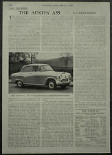 The Austin A55 Review Specification Road Test 1958 1 Page Photo Article