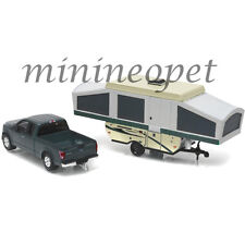 GREENLIGHT 32080 D 2015 FORD F-150 PICK UP TRUCK AND POP-UP CAMPER TRAILER 1/64