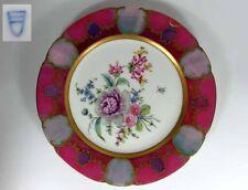 Plate Porcelain Thuringia Flowers Hand painted, um 1910