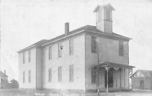 H46/ Oakwood Illinois RPPC Postcard c1910 School House Building