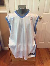 NBA Adidas Denver Nuggets White Home Basketball Blank Jersey RARE size Xxl