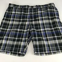 Ralph Lauren Polo Golf Mens Shorts Size 40 Blue Black Cotton Shorts
