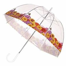 SPRING Flowers Butterfly Garden Trim Clear Dome See Through Bubble Umbrella