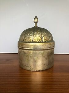 Vintage Handmade Container With Lid