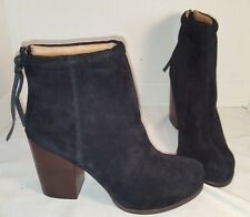 NEW JEFFREY CAMPBELL BLACK RUMBLE SUEDE ANKLE BOOTIES BOOTS  HEELS WOMENS US 10