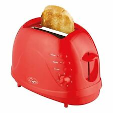 2 Slice Toaster With Removable Crumb Tray Wide Slot Red