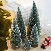 Mini Christmas Tree With LED Light Small Pine Tree Table Xmas Decor DIY Gifts UK
