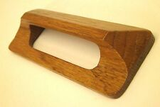 "[15] Oak 4.5"" PRE-finished Cabinet Handle CUP Pulls Knob w/Brass Inserts NC"