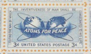 1955 sheet, Atoms for Peace Sc# 1070